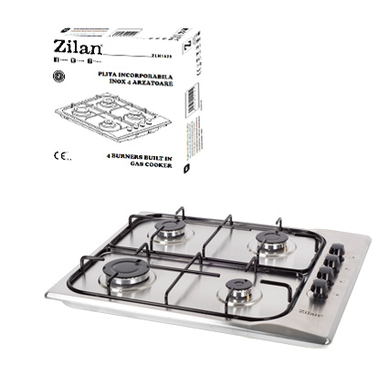 Inox Gas Cooker 4 Burners ZLN1525
